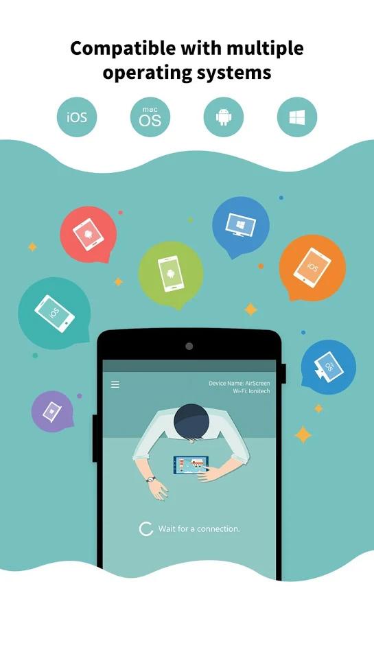 אפליקציית AirScreen לאנדרואיד טי וי