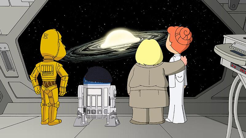 פרק מחווה לסטאר וורס | איש משפחה, Family Guy, פאמילי גאי, star wars, starwars