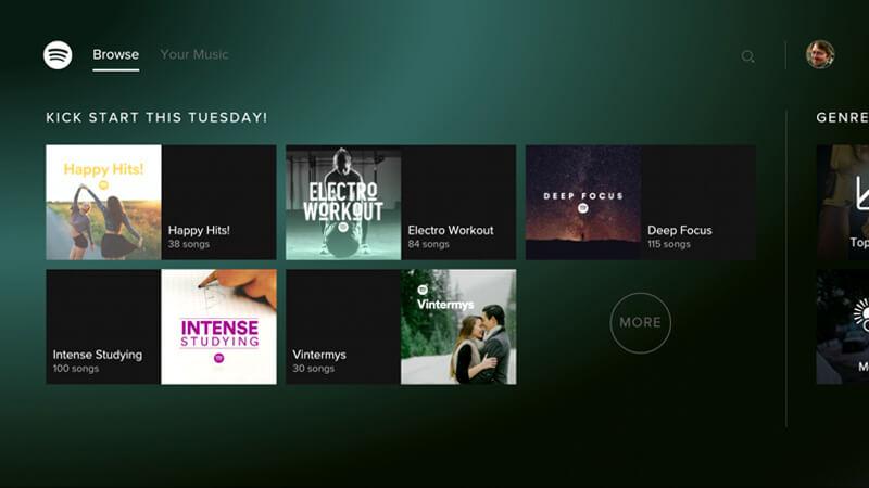 אפליקציית Spotify לאנדרואיד TV